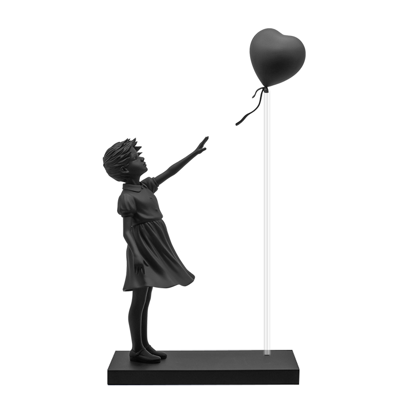 GIRL WITH BALLOON BLACK VER.